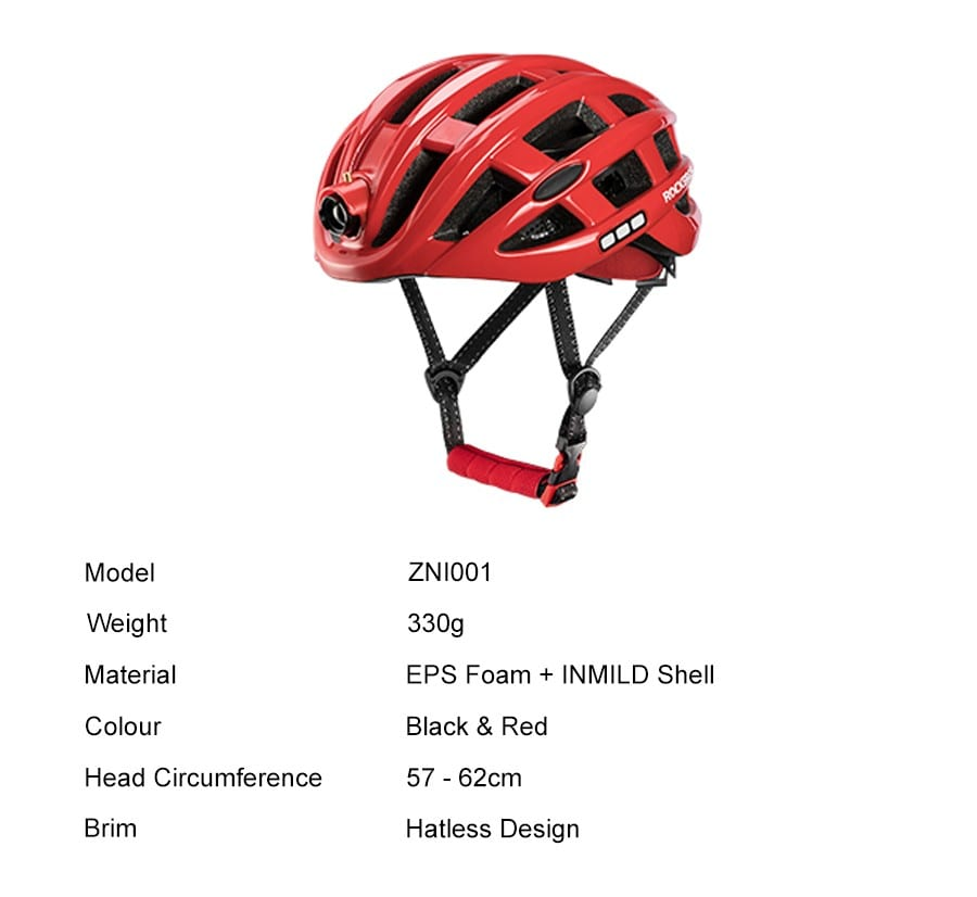 Rockbros Night Safety Riding Bicycle Helmet with Light ZN1001 p3