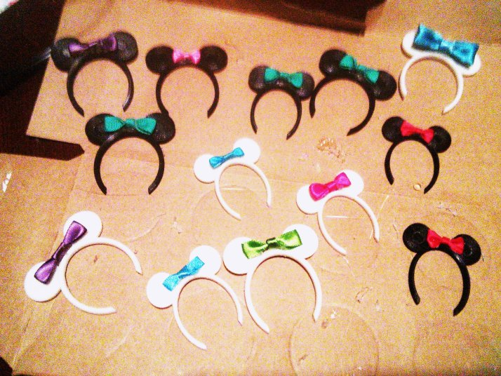 Ears with bows
