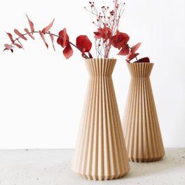 """Vase origami """"ISHI"""" - Fleurs séchées - Cadeau original Fête des mères."""