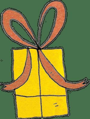 gelbes Geschenk