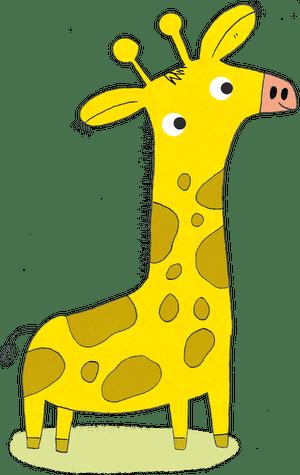 gelbe Giraffe