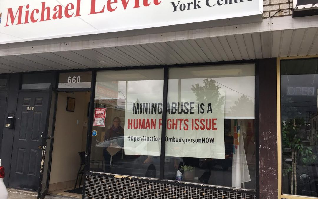 Report-Back: Sit-in targets Chair of Human Rights Subcommittee for ignoring Canadian mining abuses