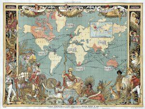 The British Empire in 1886 (wikipedia)
