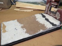 I smoothed the edges and angles with epoxy putty (Magic-Sculpt).