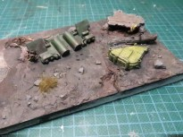 "The test ""diorama"", without snow."