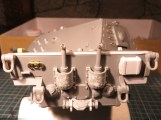 Rear detailed: texture for the exhaust covers, scratch built jack block and jack, etc.