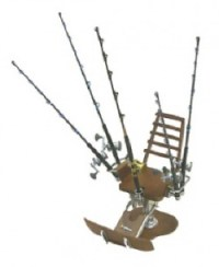 Collectible Miniature Fishing Poles and Reels - Accessories