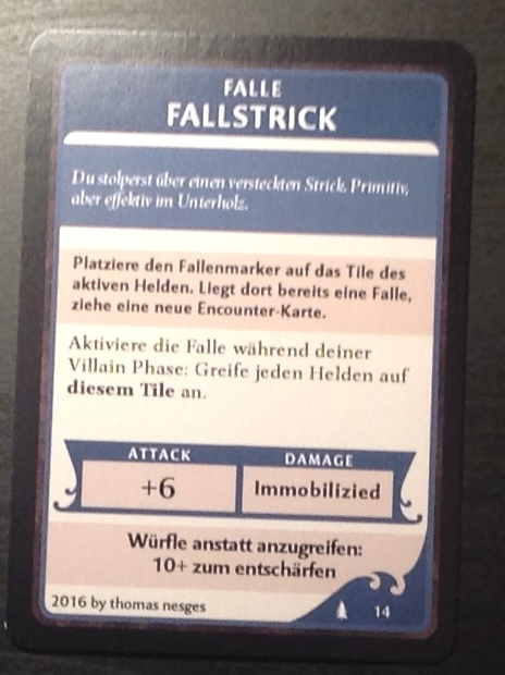 Fallstrick, Wildnis