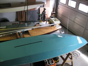 Painted Minisail Meson hull