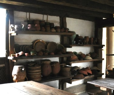 Shelves were based on these from Tudor Kitchen at Weald and Downland