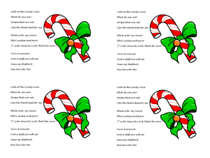 Candy Cane Poem about Jesus — Ministry-To-Children.com