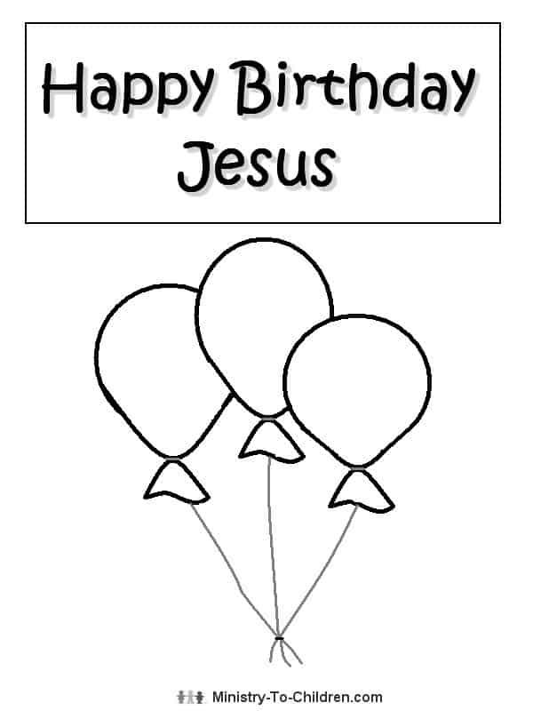 happy birthday jesus coloring page # 6