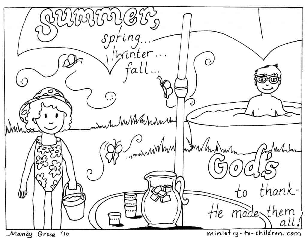 12 Summer Coloring Pages Easy Printable 100 Free