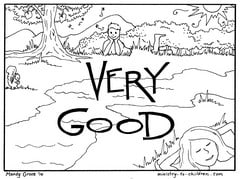"""Creation coloring pages booklet ~ Creation Coloring Pages """"Very Good"""" — Ministry-To-Children.com"""