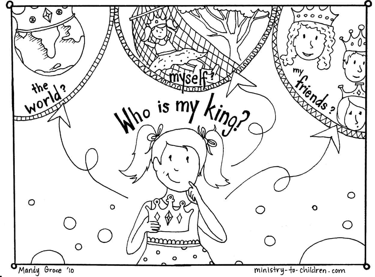 Crown Coloring Pages: King Crown Coloring Page, King Crown