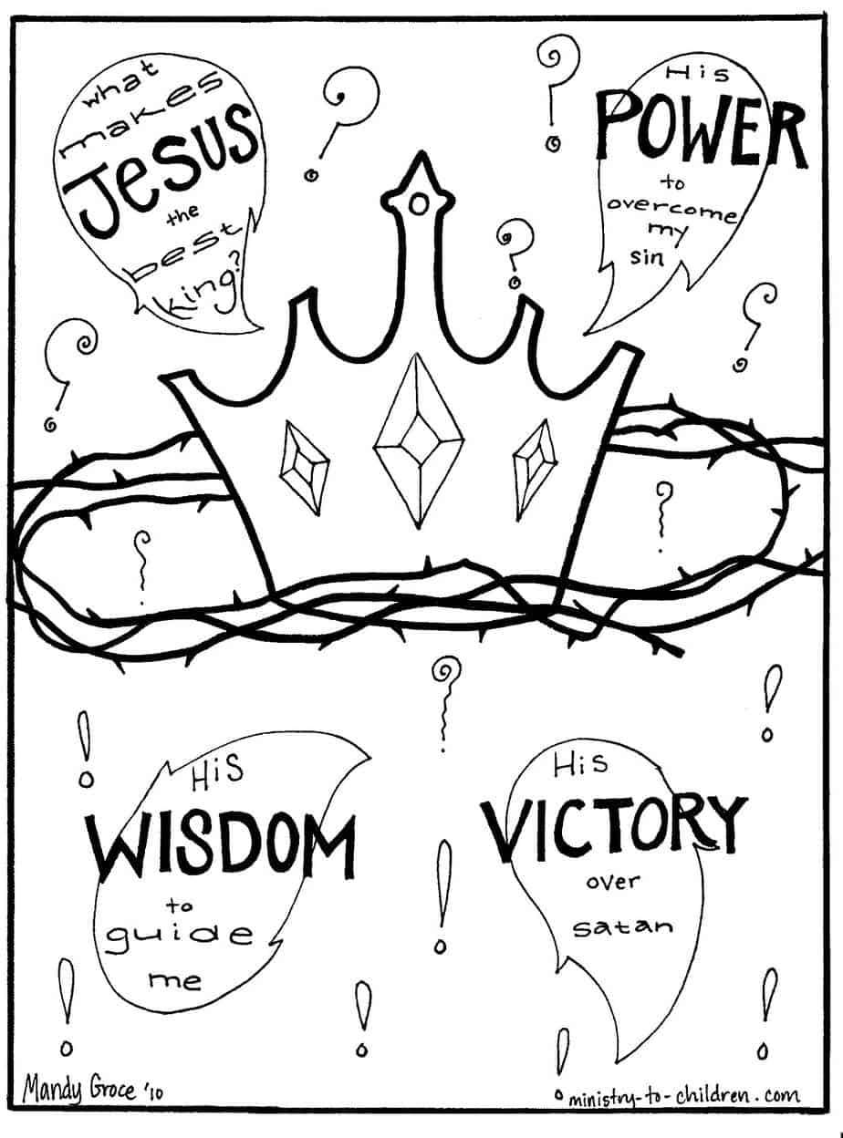Gospel Coloring Pages: What Makes Jesus the Best King?