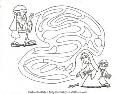 Printable Elijah and the Widow Coloring Page