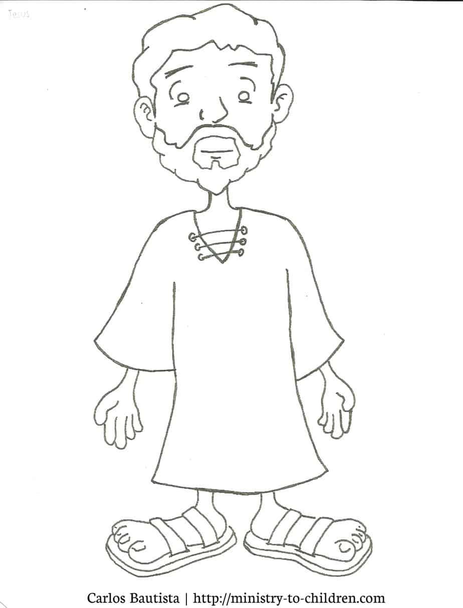 Jesus Coloring Page (printable cartoon figure)