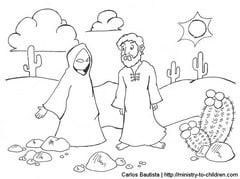 The Devil Tempting Jesus in the Desert