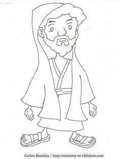 Nicodemus Coloring Page (free printable for kids)