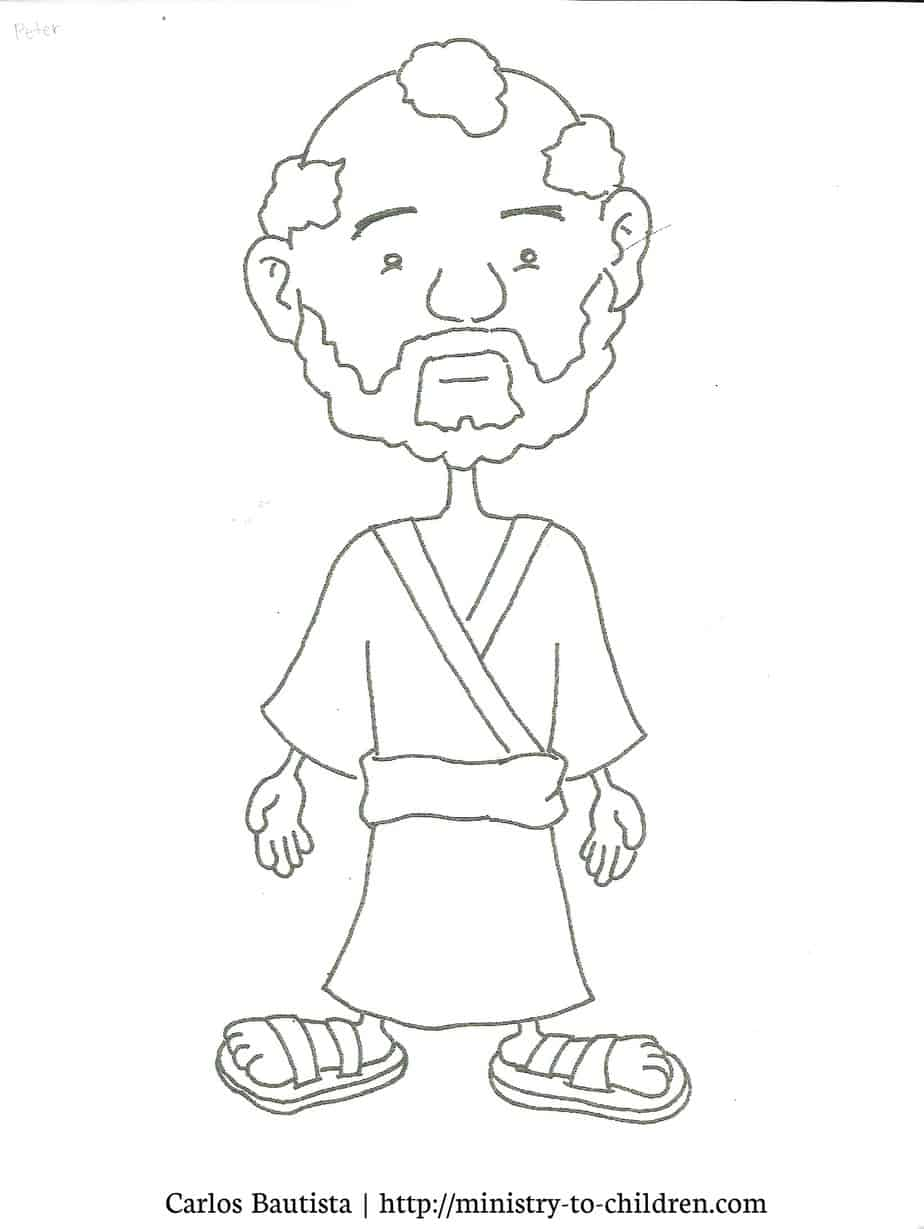 Peter Coloring Page (free printable cartoon figure)