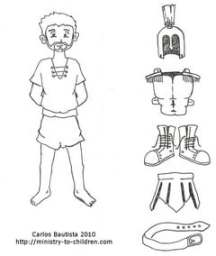 Printable Roman Centurion Coloring Page