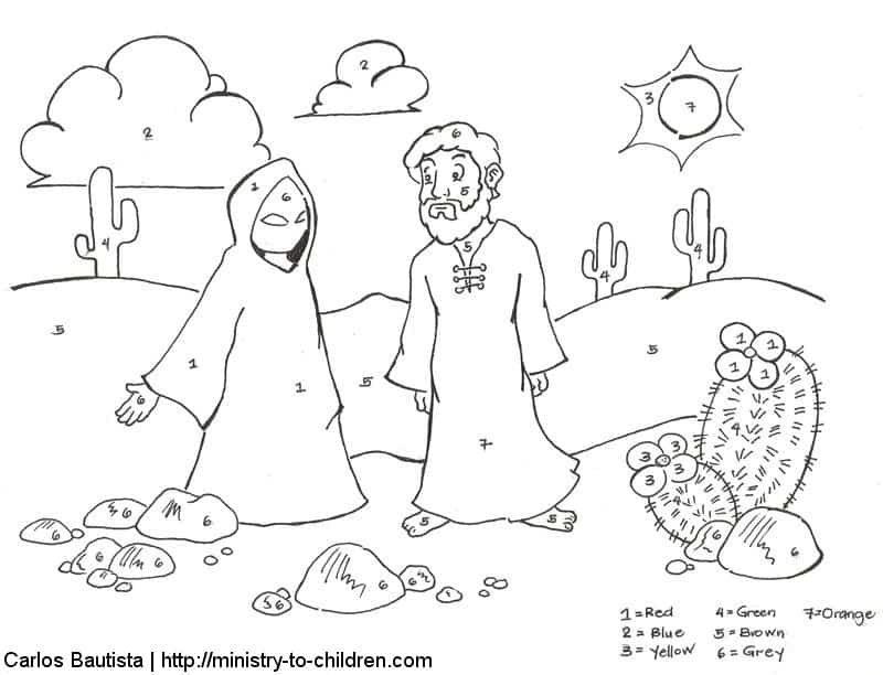 Jesus Overcomes Temptations Coloring Pages Ministry To Children Com