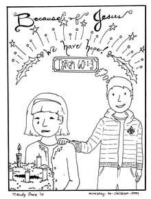 Christmas Coloring Pages Jesus gives hope