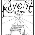 Advent coloring books cover page