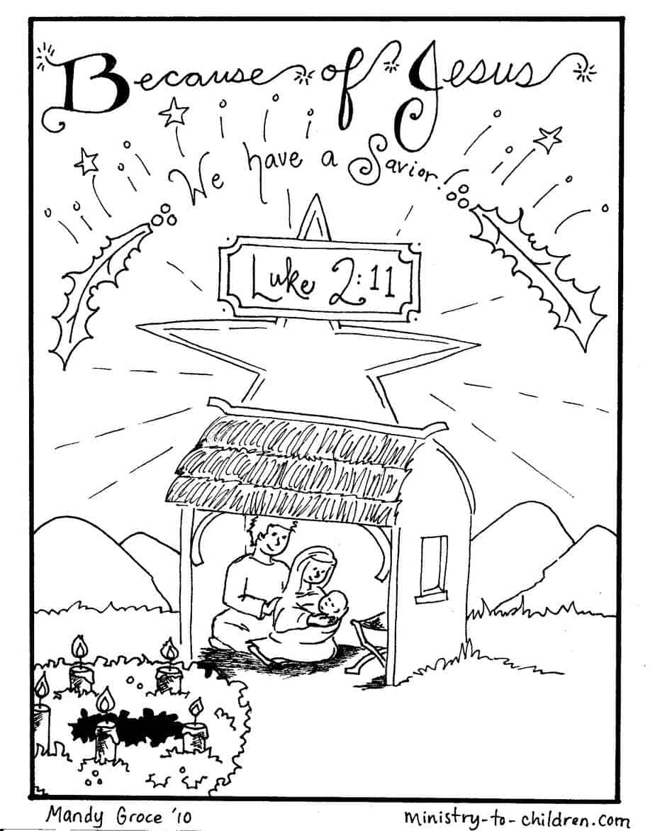 Nativity Coloring Pages: Jesus is Here