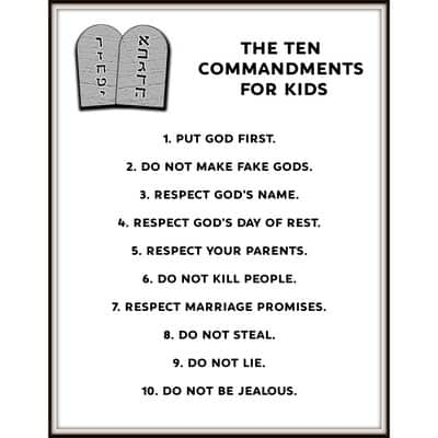 Sassy image for 10 commandments for kids printable