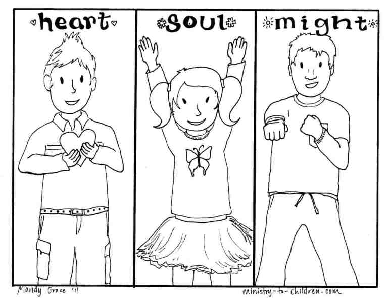 Love God Coloring Page for Children