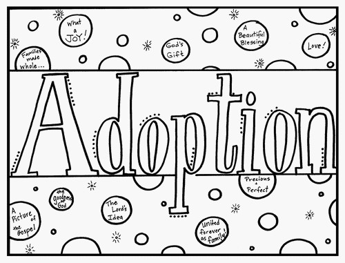 Christian Coloring Book for Explaining Adoption to