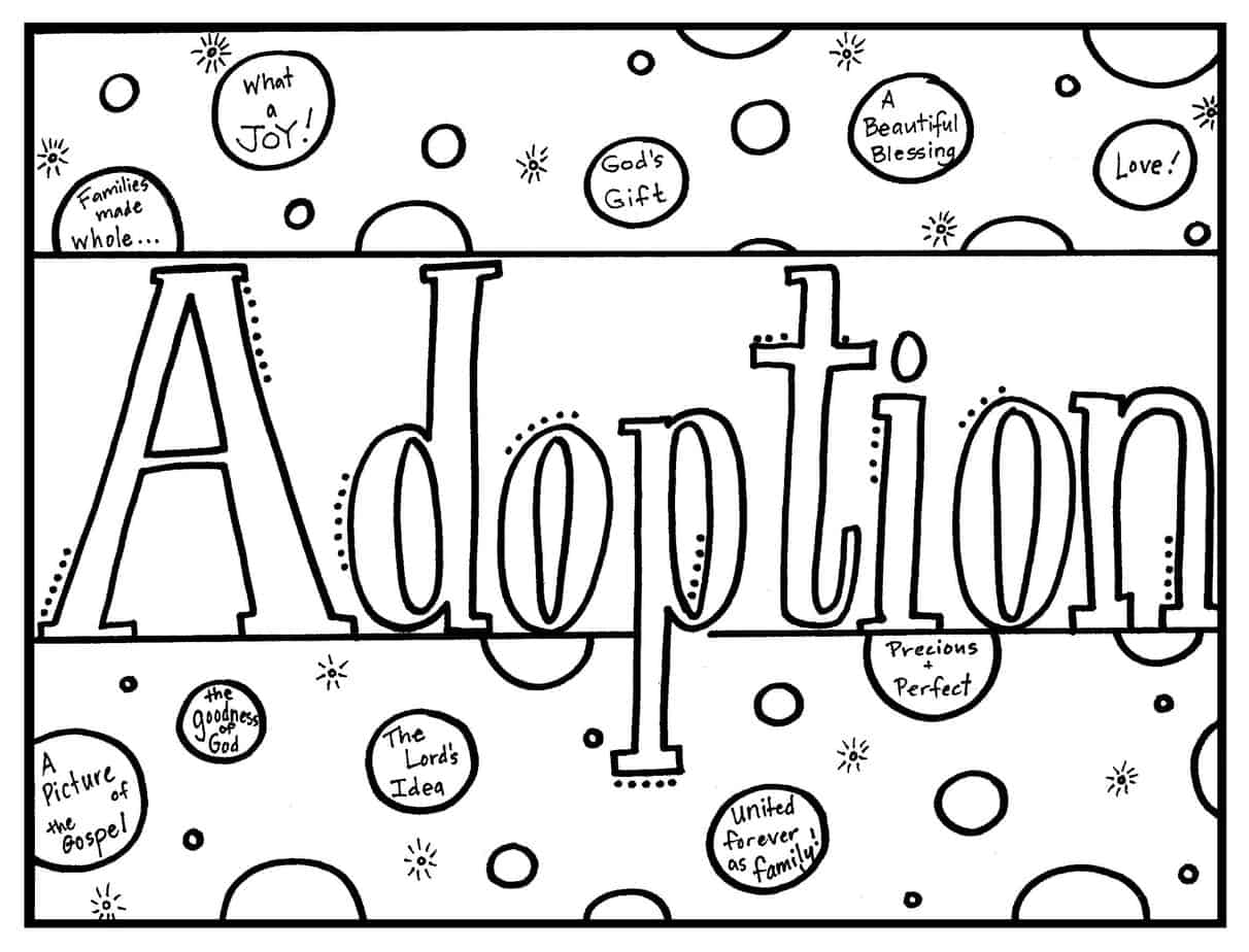 Adoption Coloring Sheets Coloring Pages