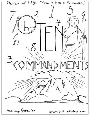 Simple 10 Commandments for Kids (Free Print) Easy Hand Motions