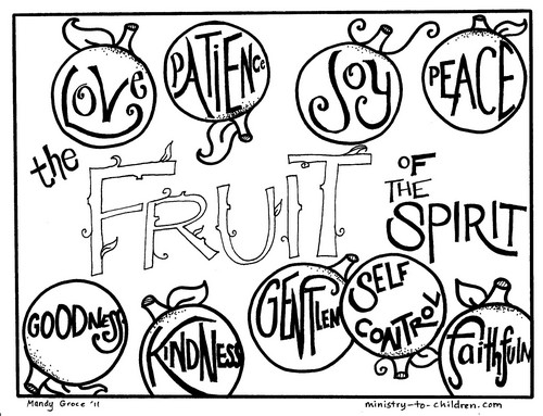 Cover page for the Fruit of the Spirit coloring book