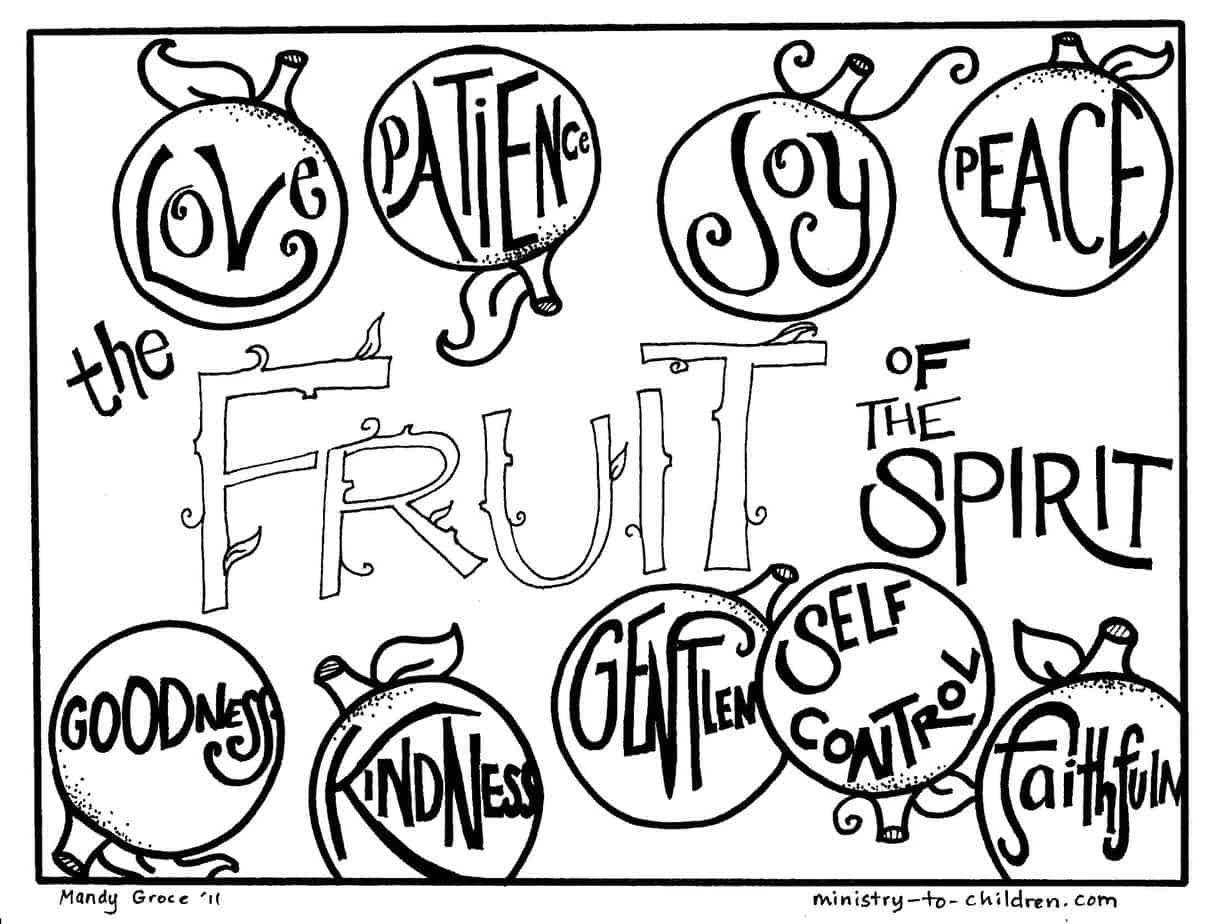 Fruit of the Spirit Coloring Pages (free printables)