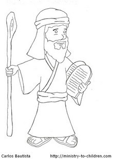10 Commandments Coloring Pages For Kids