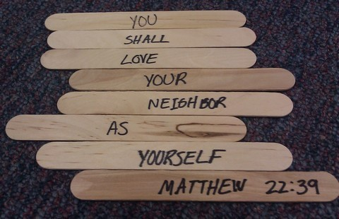 Bible Verse Puzzle Games With Craft Sticks