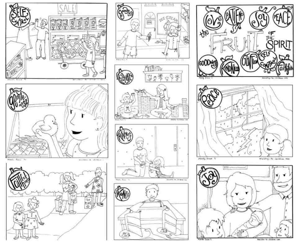"""Printable """"Fruit of the Spirit"""" Coloring Book for Kids - 100% Free"""