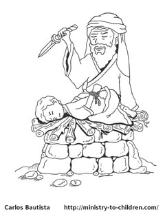 Abraham and Isaac Coloring Page — Ministry-To-Children.com