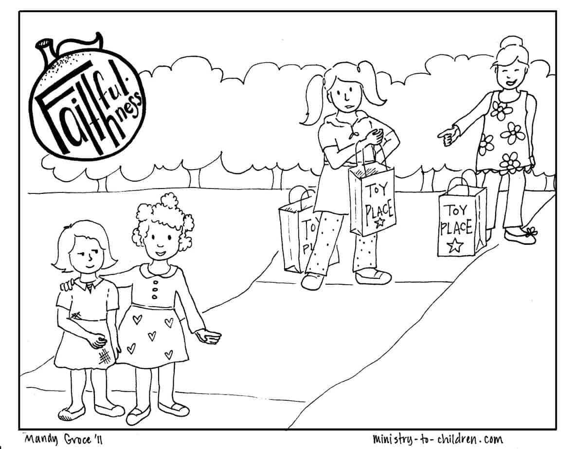 Faithfulness Coloring Page (free printable for kids)