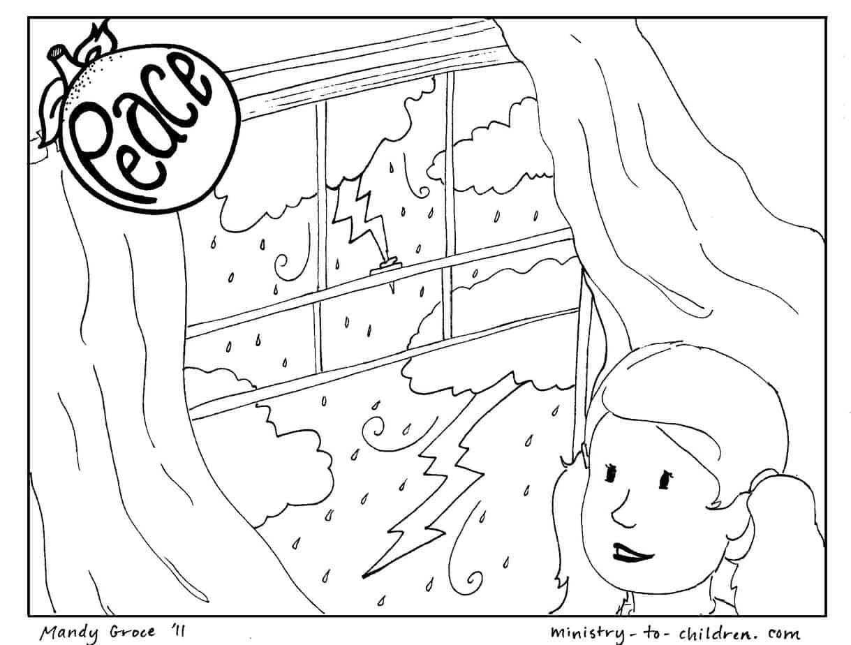 Peace Coloring Page Free Printable For Kids