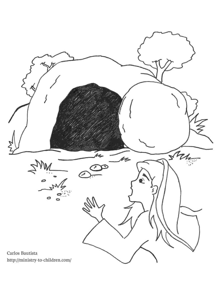 Empty Tomb Coloring Page (Free Kids Printable)
