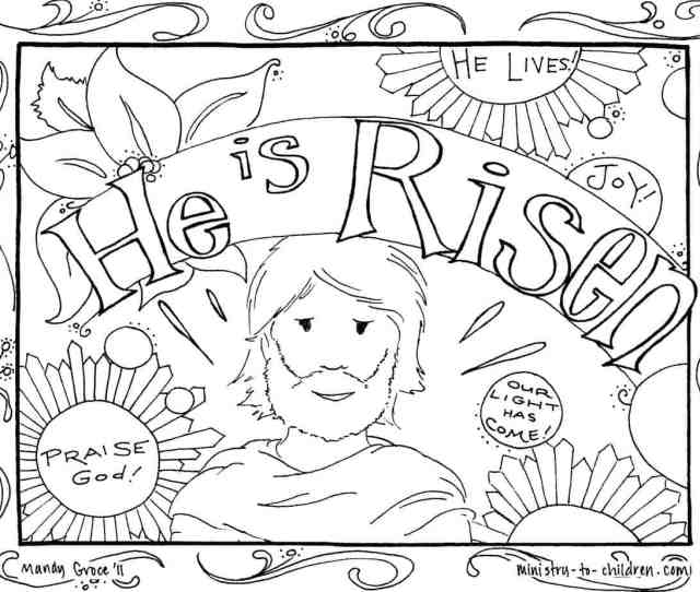Easter Coloring Pages Religious Free Printables For Kids