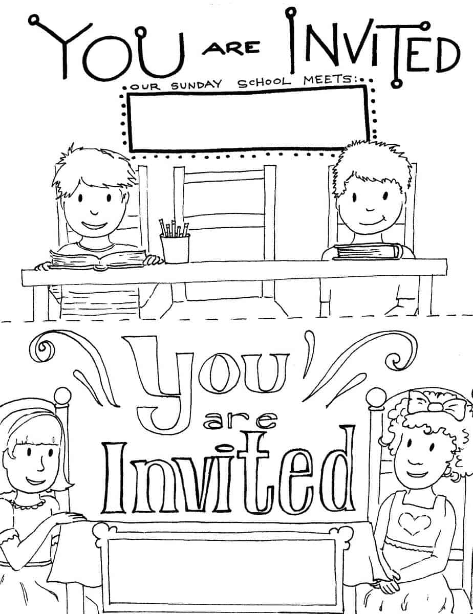 Printable Sunday School Invitations Templates