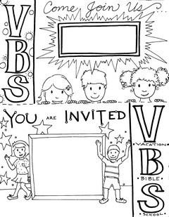 Vacation Bible School invitation card