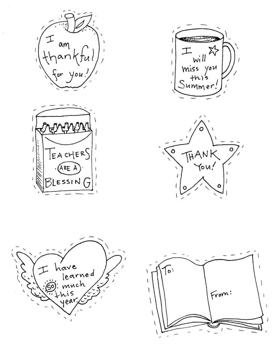 Teacher Appreciation Coloring Pages