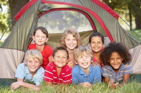 Kids at church camp