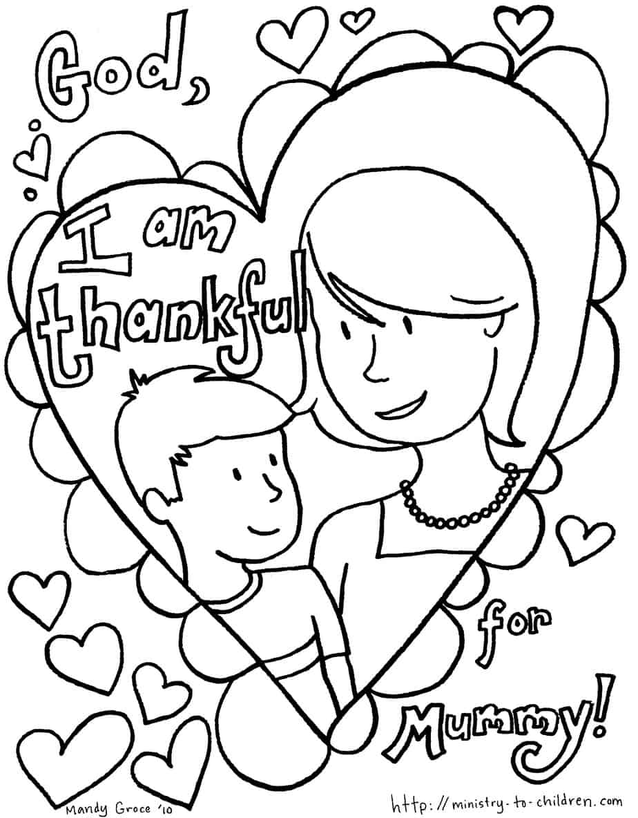Mother's Day Coloring Pages (100% Free) Easy Print PDF